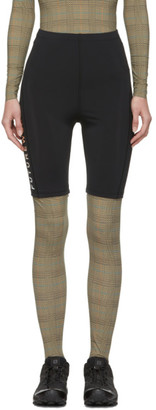 Marine Serre SSENSE Exclusive Black Future Wear Leggings