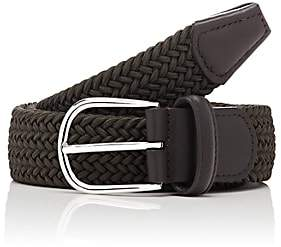 Barneys New York Men's Braided Stretch Belt-Olive