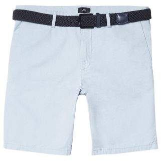 River Island Mens Big and Tall light blue belted chino shorts