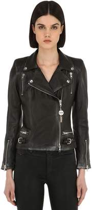 S.w.o.r.d. 6.6.44 Distressed Leather Biker Jacket