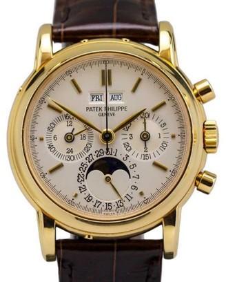 Patek Philippe 3970E 18K Yellow Gold Perpetual Calendar Chronograph Watch $89,995 thestylecure.com