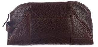 Salvatore Ferragamo Leather Zip Cosmetic Bag