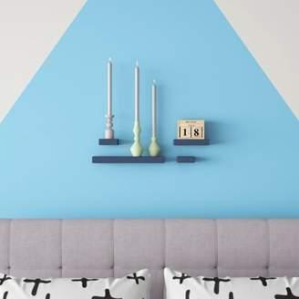 Hashtag Home Celinda Chunky Shelves 4 Piece Wall Shelf Set Hashtag Home