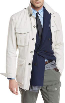 Brunello Cucinelli Button-Front Safari Jacket