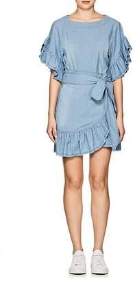 Etoile Isabel Marant Women's Lelicia Chambray Apron-Front Minidress