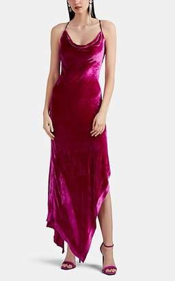 Juan Carlos Obando Women's Velvet Asymmetric Cocktail Dress - Pink