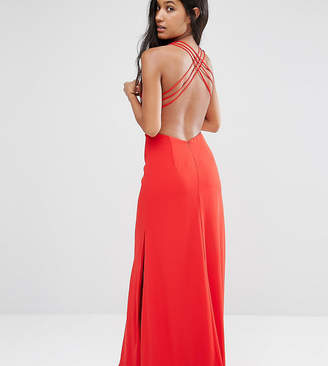 Fame & Partners Maxi Dress with Crossback Detail and Cut Outs