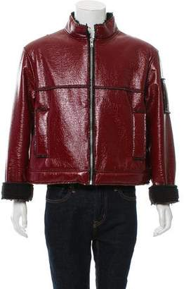 Gosha Rubchinskiy Mock Neck Faux-Shearling Jacket