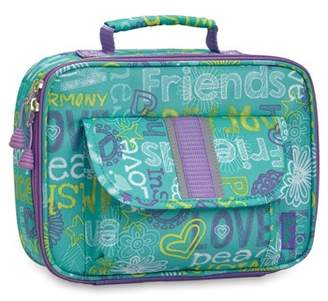 Bixbee Hope Peace Love Water Resistant Lunch Box