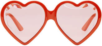 Gucci Red Heart Acetate Sunglasses