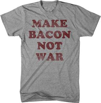 Crazy Dog T-shirts Crazy Dog Tshirts Youth Make Bacon Not War T Shirt funny Bacon shirt I love bacon tee for kids M