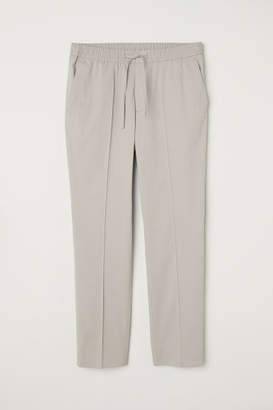 H&M Elasticized Cotton Pants - Gray