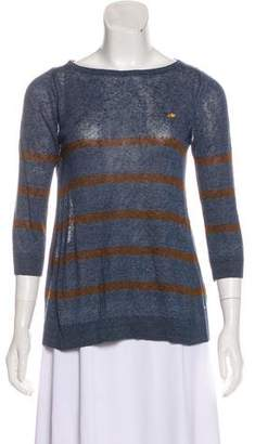 DSQUARED2 Linen Striped Top w/ Tags