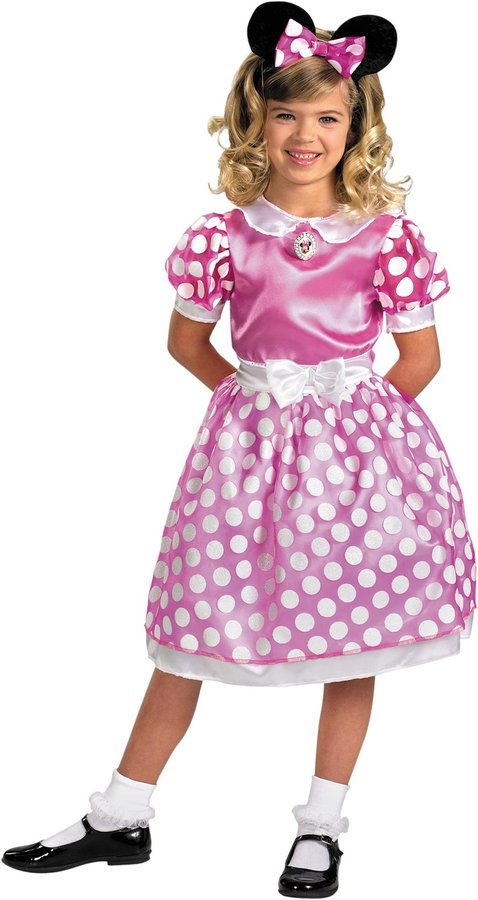 Disguise Pink Minnie Mouse Classic - Pink Minnie Mouse Classic - Small (4-6)