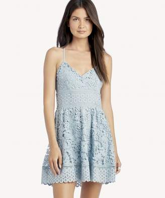 Sole Society Overlap Top Fit & Flare Dress