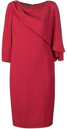 Alberta Ferretti cape front midi dress