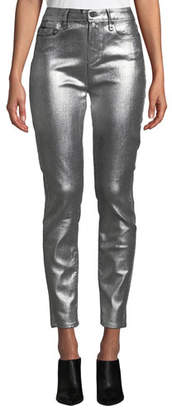 Paige Verdugo Ultra Skinny Metallic Ankle Jeans