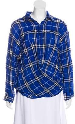 Smythe Plaid Button-Up Top