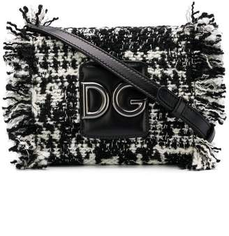 Dolce & Gabbana fringed tweed shoulder bag