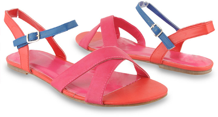 Forever 21 Colorblocked Sandals