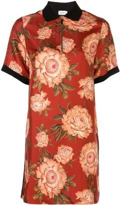 Salvatore Ferragamo peony print silk blouse