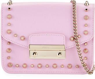 Furla Julia Mini Studded Saffiano Leather Crossbody Bag