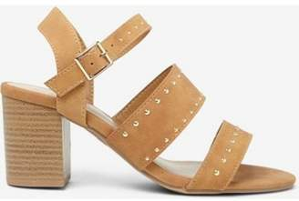 Dorothy Perkins Womens Tan 'Star' Studded Sandals