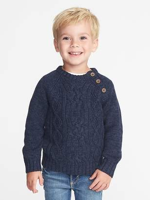 Old Navy Button-Neck Cable-Knit Sweater for Toddler Boys