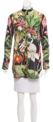 ADAM by Adam Lippes Floral Print Button-Up Top