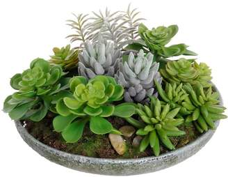 Pottery Barn Faux Succulents in Bowl
