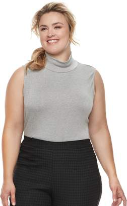 Croft & Barrow Plus Size Sleeveless Mock Neck Top