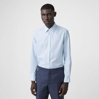 Burberry Classic Fit Monogram Motif Cotton Oxford Shirt