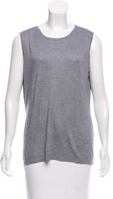 Magaschoni Silk & Cashmere-Knit Sleeveless Sweater