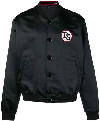 Dolce & Gabbana patch detail bomber jacket