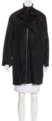 Lanvin Silk Ruffle-Trimmed Coat