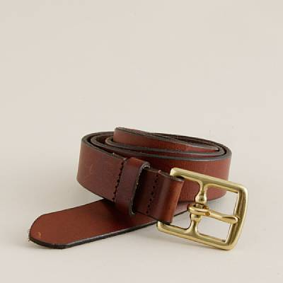 Leather equestrian belt