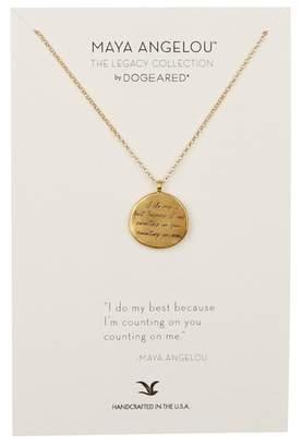 Dogeared 14K Gold Vermeil Maya Angelou I Do My Best Coin Necklace