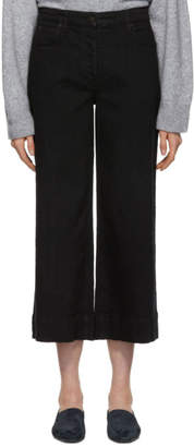 The Row Black Cropped Edna Jeans