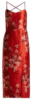 Johanna Ortiz El Dia Que Me Quieras Floral Print Satin Dress - Womens - Red Multi