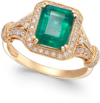 Effy Brasilica by Emerald (2-1/5 ct. t.w.) and Diamond (1/3 ct. t.w.) Ring in 14k Gold, Created for Macy's