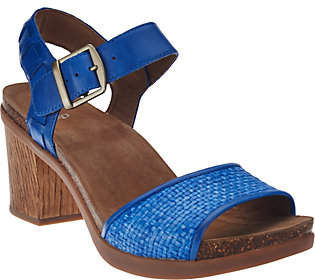 Dansko Leather Sandals with Adj. Ankle Strap -Debby