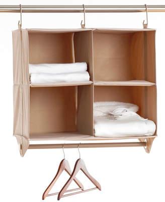 Neatfreak Cubby Organizer, 4 Shelves with Hanging Bar ClosetMAX