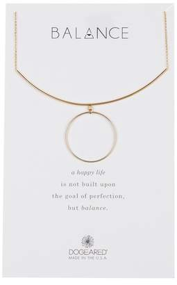 Dogeared Balance Delicate Bar & Circle Charm Necklace