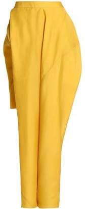 Rick Owens Asymmetric Silk-Faille Maxi Skirt