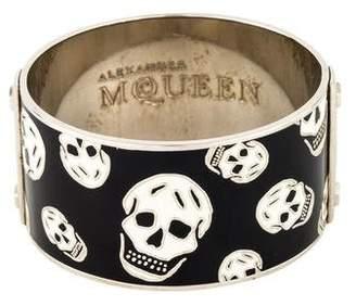 Alexander McQueen Enamel Skull Bangle