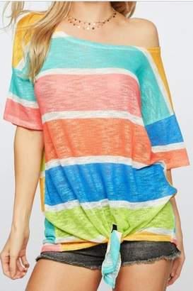 Bibi Striped Knit Top