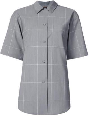 ADAM by Adam Lippes grid print short sleeve shirt