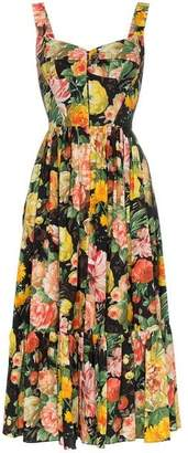 Dolce & Gabbana Full Skirt Floral Midi Dress