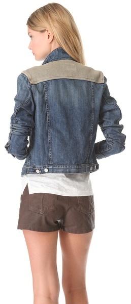 Rag and Bone Denim & Knit Jacket