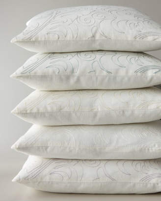 """Sferra Megan Pillow with Single-Color Embroidery, 20""""Sq."""